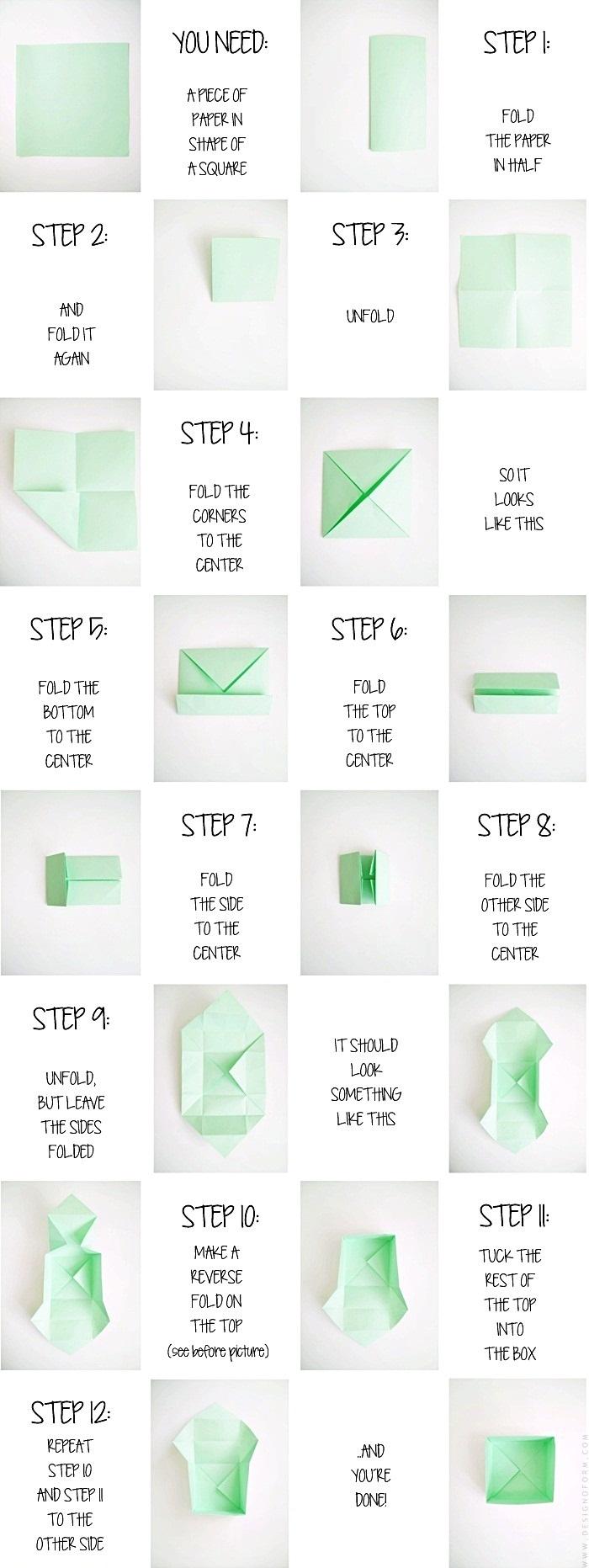 origami twist box