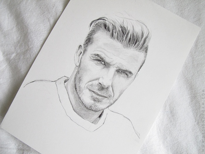david beckham drawing