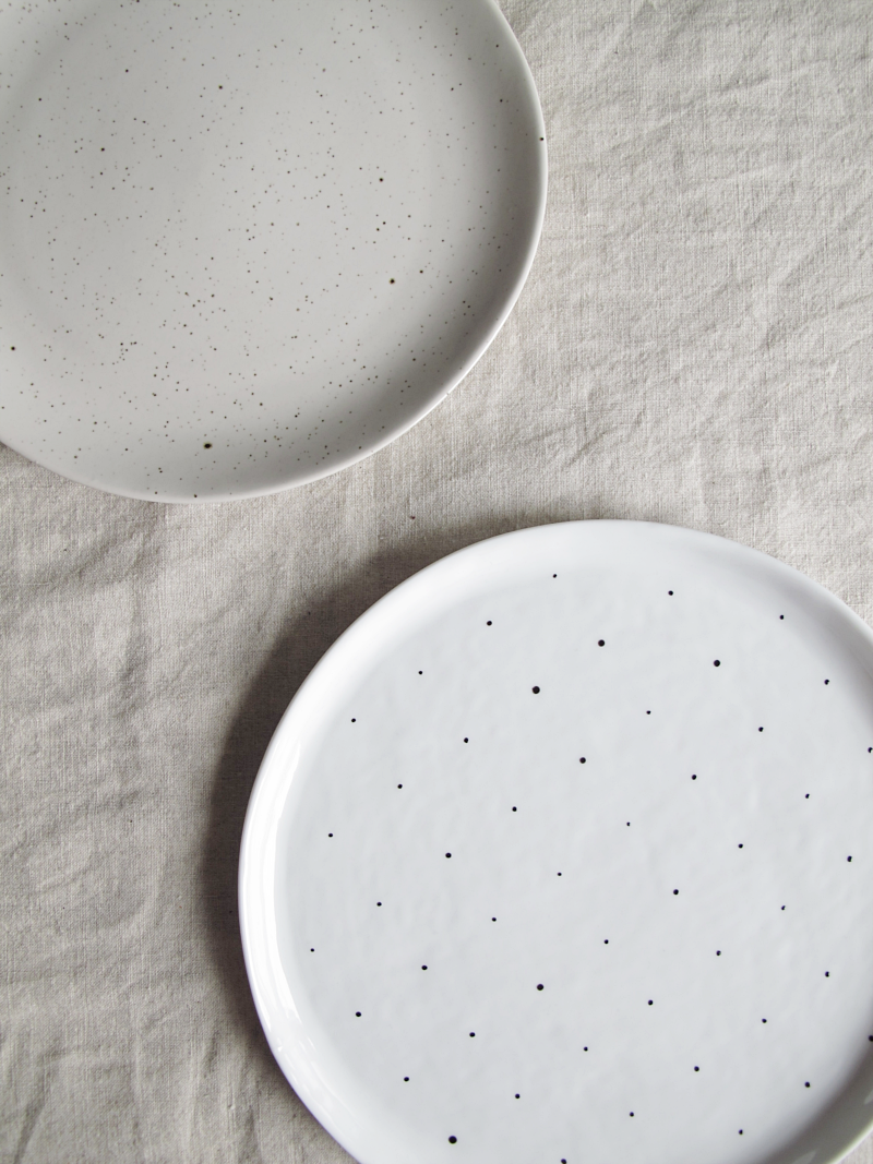 diy dotty plate | via design and form