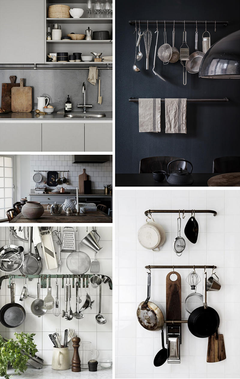 rails in the kitchen inspiration